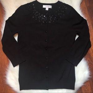 Isaac Mizrahi beaded cardigan sweater